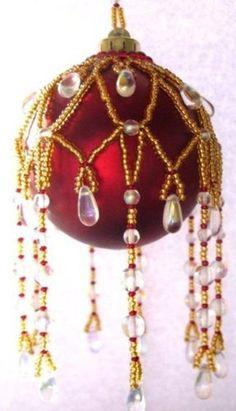 Beaded Countess Christmas Ornament Cover