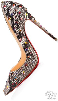 Christian Louboutin So Kate Clair De Lune Python Roccia | @ christian louboutin
