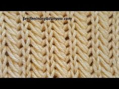 The pseudo-wheat braid model with medium-sized ropes with The model consists of 4 stitc Baby Knitting Patterns, Knitting Stitches, Stitch Patterns, Crochet Patterns, Tunisian Crochet, Crochet Motif, Easy Crochet, Knit Crochet, Crochet Hats