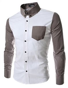 Mens Button-Down Casual Shirts Cotton Contrast Long Sleeved Dressy Tops KST Indian Men Fashion, Mens Fashion, Fashion Brand, Costume Africain, Only Shirt, Men Street, Well Dressed Men, Gentleman Style, Shirt Style
