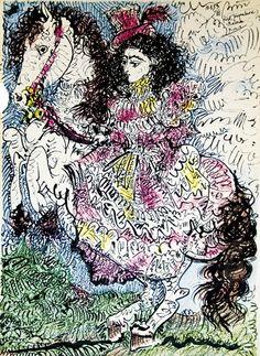 Пабло Пикассо, ''Быки и тореадоры''. Литография, 1961.