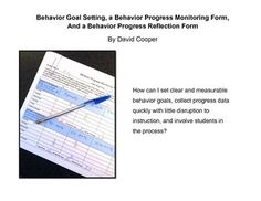 This Behavior Progress Monitoring Form enables teachers to collect detailed data consistently with little attention diverted from instruction, and the Behavior Progress Reflection Form is a self-evaluation tool for use with students to encourage the development of behavioral awareness and compensatory skills.