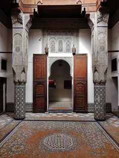 Moroccan splendour   A courtyard in the Dar Jamai Museum, Meknes, Morocco. A former palace of the Jamai family, this museum is a showcase of Moroccan arts and craftsmanship.