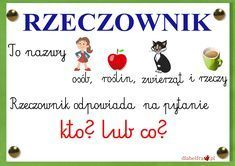 rzeczownik1 Polish Language, Secondary School, Kids And Parenting, Homeschool, Classroom, How To Plan, Education, Learning, Blog