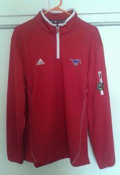 Southern Methodist University SMU Mustangs Red Adidas Track Jacket Medium  NEW  adidas  SMUMustangs Southern e74387316