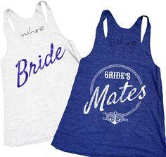 Bride's Mates, XS-2XL, Bachelorette Tank, Bachelorette Party.