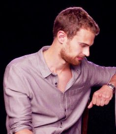 """And finally: Theo James is in it. 