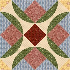 Country Rose Quilts Block 8 - Wo die Liebe hinfaellt