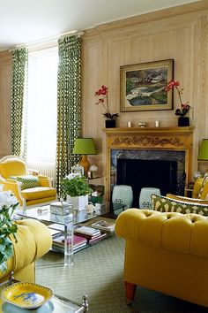 Lime and Yellow Geometric Colour Scheme - Living Room Design Ideas (houseandgarden.co.uk)