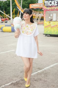 An easy smock dress is the perfect summer piece to throw on! #whitedress #summer