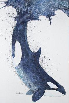By eriksterlingsherman art inspo art, whale art, orca tattoo. Art Inspo, Art Watercolor, Drawn Art, Art Et Illustration, Animal Totems, Art Design, Stuffed Animals, Painting & Drawing, Whale Painting