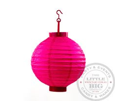 Cordless Solid Colour Pink Paper Light Up Lantern | Hot Pink | Shop By Colour | Party Collection | The Little Big Company Pty Ltdparty, glass bottles, swizzle sticks, beverage dispenser, birthday, gift, rock candy