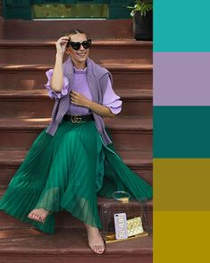 Fashion Tips Outfits .Fashion Tips Outfits Colour Combinations Fashion, Color Combinations For Clothes, Fashion Colours, Colorful Fashion, Color Combos, Color Blocking Outfits, Fashion Mode, Look Fashion, Fashion Design