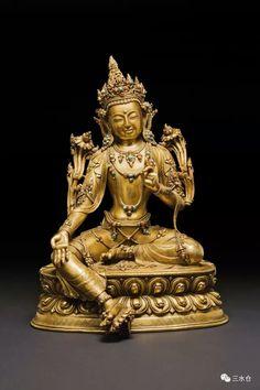 Tibetan gilt bronze Bodhisattva, 15th/16th C. Collection of Walter Arader Gallery, USA