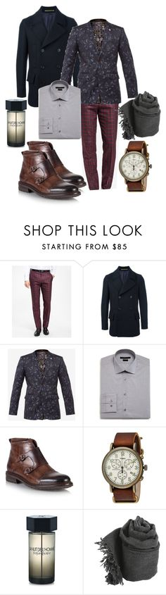 artist by AlinA on Polyvore featuring John Varvatos * U.S.A., Brooks Brothers, Ted Baker, Paul Smith, Timex, Faliero Sarti, Yves Saint Laurent, men's fashion and menswear