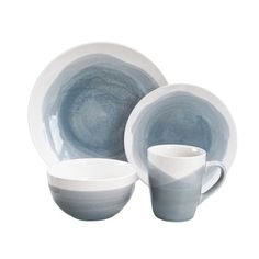 Shop for Oasis 16-piece Dinnerware Set. Get free delivery at Overstock.com - Your Online Kitchen  sc 1 st  Pinterest & My new set of dishes! u003c3 Cuisinart® u0027Diamond Leafu0027 16-Piece ...