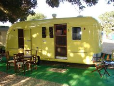 1950 Vagabond trailer. I would love to have something like this as a writing studio in my back yard. :) @Bryn Donovan
