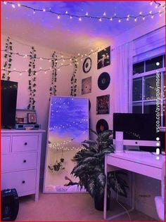 Indie Room Decor, Cute Room Decor, Aesthetic Room Decor, Hippie Bedroom Decor, Room Lights Decor, Led Room Lighting, Bohemian Bedroom Design, Tumblr Room Decor, Cheap Room Decor
