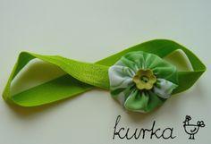 opaska handmade by kurka - zielony kwiat