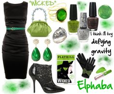 Elphaba inspired outfit from Wicked!  Character suggested by:krctosstoss