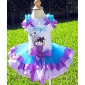Girls Birthday Monsters Inc Boo Elegance Tutu Set