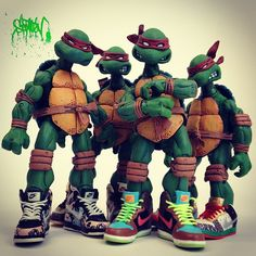 The artist @santlov used our TMNT figures and some of the coolest sneakers ever to take this photo