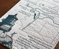 #CurrentsGifts loves this idea of a Cape Cod wedding map