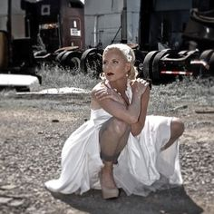 "Photo of the day - ""Trash the Dress"" #weddings #weddingdress #weddingphotography #weddingphotographer #wedding #junkyard #potd #photooftheday"