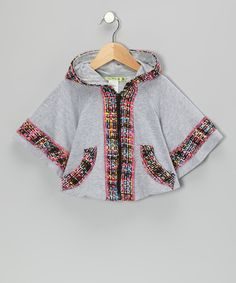 Take a look at this Gray Midnight In Paris Zip-Up Poncho - Toddler & Girls on zulily today!
