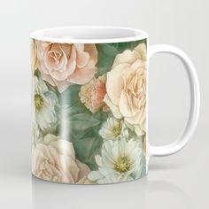 Floral rose pattern Mug by StrijkDesign | Society6