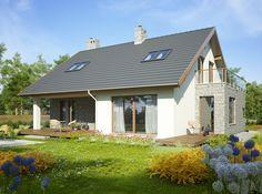Dom z użytkowym poddaszem, przeznaczony dla 5-7-osobowej rodziny. 20 M2, My House, Gazebo, House Plans, Shed, Outdoor Structures, Mansions, Architecture, House Styles