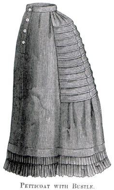 Undergarments: 1884 bustle petticoat