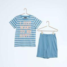 Pyjama court en coton Garçon - Kiabi - 6,00€