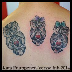 https://www.facebook.com/VorssaInk, http://tattoosbykata.blogspot.fi, #tattoo #tatuointi #katapuupponen #vorssaink #forssa #finland #traditionaltattoo #suomi #oldschool #pin up #owl