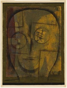 Paul Klee (1879-1940), Kopf eines Archaeologen (Head of an Archaeologist), 1924(13). Oil and gouache on paper. 37.5cm H x 28.3cm W. (Art Institute of Chicago) (Image © 2018 Artists Rights Society (ARS), New York / VG Bild-Kunst, Bonn)