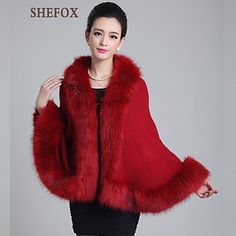 Autumn And Winter Knitted Fur Shawl