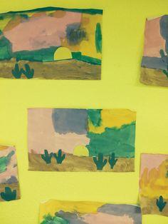 Desert sunset Desert Crafts, Desert Sunset, Deserts, Painting, Art, Art Background, Painting Art, Kunst, Postres