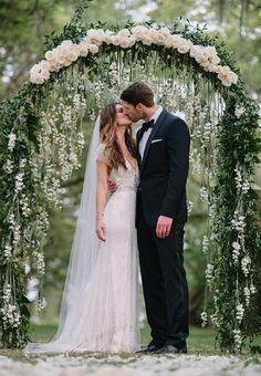 Floral archway Romantic wedding ideas. Colin Cowie Weddings #wedding #decor