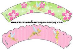Tink Pink and Green Background - Complete Kit with frames for invitations, labels for goodies, souvenirs and pictures! | Making Our Party