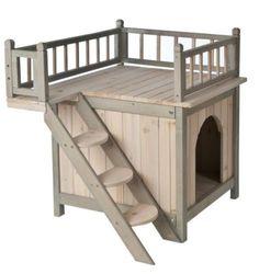 Wooden Cat Den Kennel Shelter House Rabbit Patio Outdoor House Bed Indoor Cabin