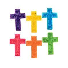 Bright Mini Cross Maze Puzzles - OrientalTrading.com