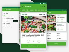 Let me share some screens of my tasty project. App implements all the functionality of the food delivery service from vegetarian cafe. Android App Design, Android Ui, Bubble Games, Dessert Pizza, Meal Delivery Service, Cafe Menu, Best Apps, Material Design, Bubbles