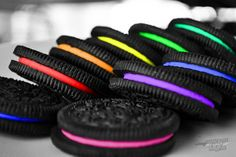 Rainbow Oreos super easy food coloring project love it