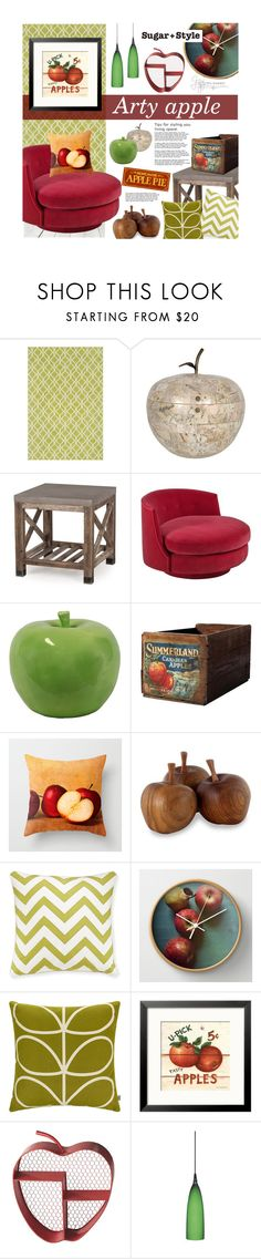 """Arty Apple"" by ellergy ❤ liked on Polyvore featuring interior, interiors, interior design, home, home decor, interior decorating, Loloi Rugs, Maitland-Smith, Andrew Martin and Urban Trends Collection"
