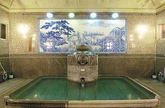 Bathhouse with crane!