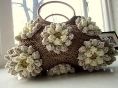 Almond Blossom Crochet Bag