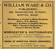 William ware and co, Publishers, NY, NY