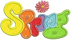 Groovy Spring Applique - 2 Sizes! | Words and Phrases | Machine Embroidery Designs | SWAKembroidery.com Stitch-Ville
