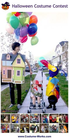 Up family theme costume - awesome! Homemade Costumes for Families - a huge gallery of DIY Halloween costumes!