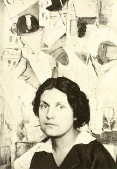 Fotografía de Nadeshda Udaltsova, 1915, Moscú. De sus obras cubistas de la década de 1910 quedan pocos ejemplos; fueron mostradas en la década de 1920 en la Galería Tretiakov y el Museo Ruso de Leningrado.  #ProgramaNosotras